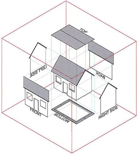 orthographic projection house orthographic isometric