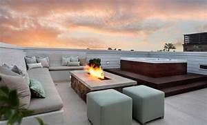 Feuerstelle Für Terrasse : moderne ethanol feuerstelle sorgt f r romantik ~ Markanthonyermac.com Haus und Dekorationen
