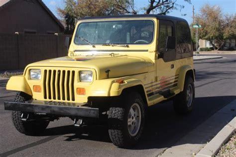 jeep islander 1989 jeep wrangler islander sport utility 2 door 4 2l