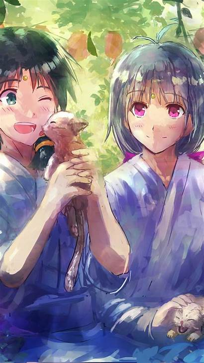 Anime Couple Wallpapers Flowers Animated Painting Cats