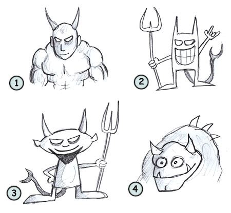 drawing  cartoon devil