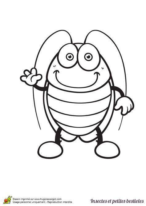 blatte de cuisine dessin à colorier insecte et bestiole une blatte