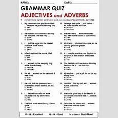 Adjectives And Adverbs  Esl English As A Second Language Inglés Como Segundo Idioma