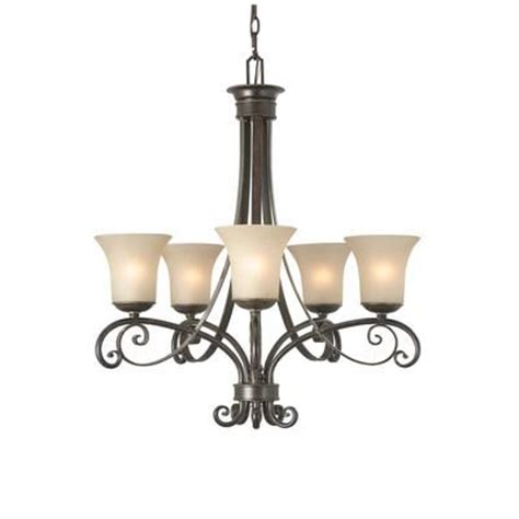 hton bay essex 5 light chandelier 26 inch aged