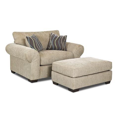 sofa chair and ottoman klaussner tiburon chair and ottoman set atg stores