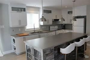 Armoire Noir Et Blanc : armoires de cuisine en polym re blanc et lot m lamine cuisines despro ~ Preciouscoupons.com Idées de Décoration