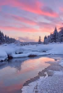 Sunrise Winter Snow Scenes