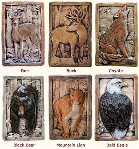 rustic relief decorative wildlife animal ceramic tiles
