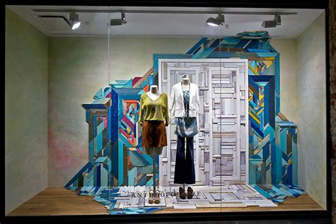 anthropologie window displays retail design blog
