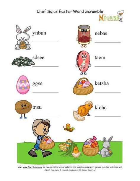 holiday  unscramble words puzzle protein food group