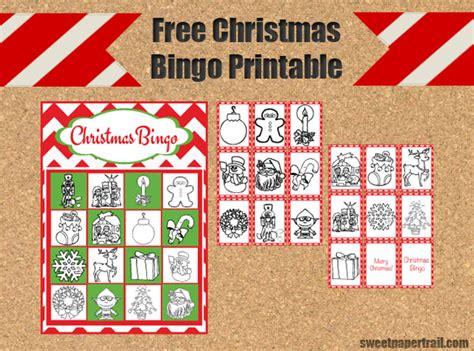 20 free printable christmas bingo cards. Christmas Bingo Free Download - Sweet Paper Trail
