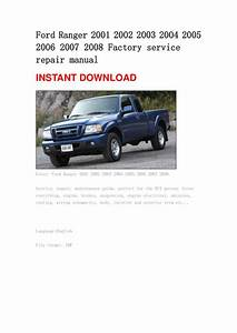 Ford Ranger 2001 2002 2003 2004 2005 2006 2007 2008 Manual