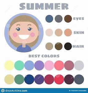 Stock Vector Color Guide  Eyes  Skin  Hair Color  Seasonal