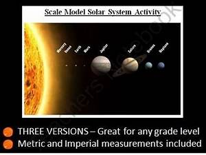 Build a scale model of our solar system. A 1-3 day Space ...