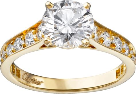 crh  solitaire ring yellow gold diamonds