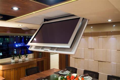 support plafond tv motorise support tele electrique