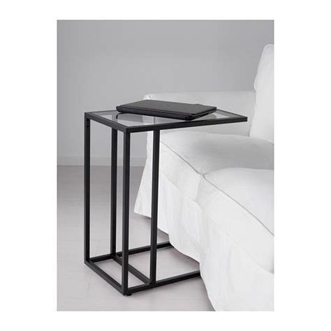 vittsj coffee table black brown laptop stand side coffee table black brown frame glass