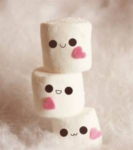 Kawaii Marshmallows - I just love their cute little faces ...