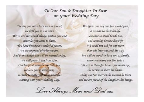 poem  son  daughter  law   wedding day