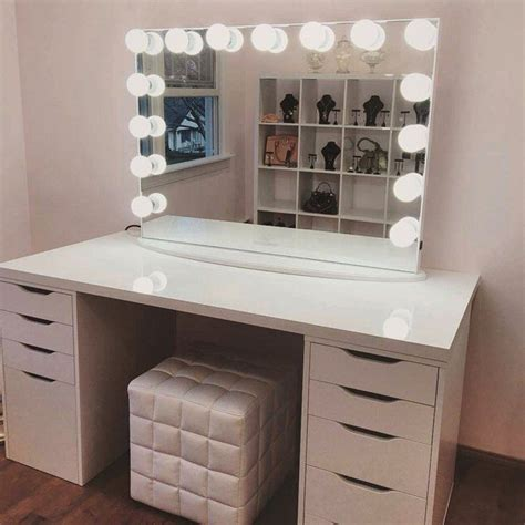 makeup vanity with lights ikea makeup table vanity imuse make up tables vanities shelby