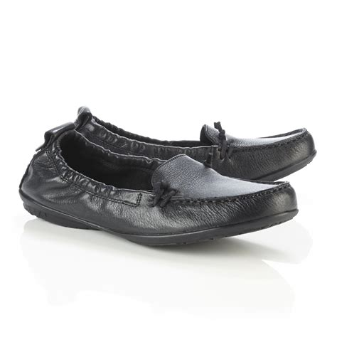 hush puppies women s ceil black leather moccasin wide