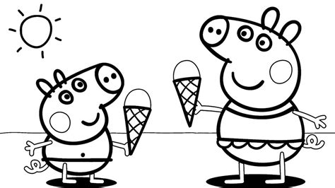 New Peppa Pig Coloring Pages BubaKids com