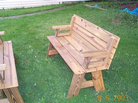 picnic table bench combo plan  style