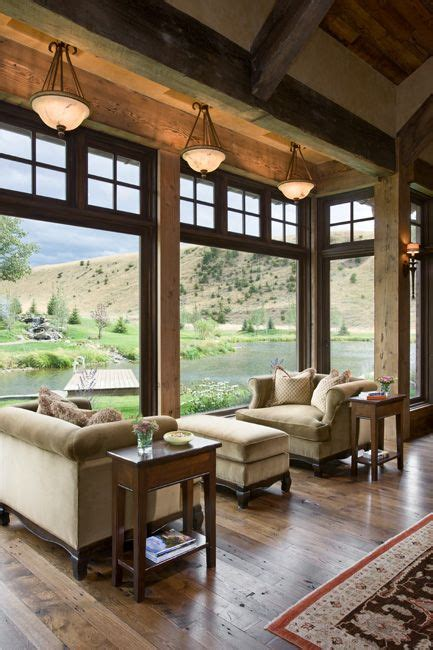 Living Rooms With Great Views by Gorgeous Mountain Home With Amazing Windows Views