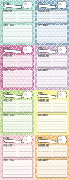printable recipe pages images recipe