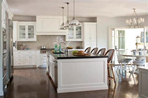 Gray Subway Tile Backsplash   Transitional   kitchen