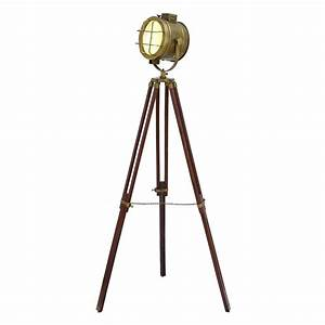 shop woodland imports 70 in royal brown tripod floor lamp With royal marine tripod floor lamp antique brass and brown