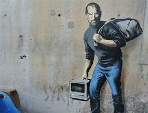 banksy in calais jungle steve graffiti reminds