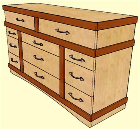 plans bedroom dresser  woodworking