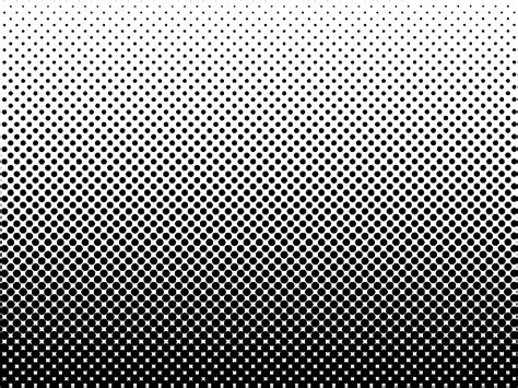 Dotted Halftone Black And White Background (misc