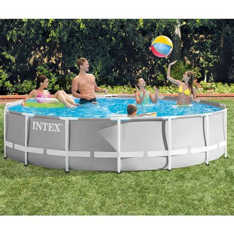 piscine intex 4 57 piscine tubulaire ronde intex prism frame 4 57 x 1 22 m