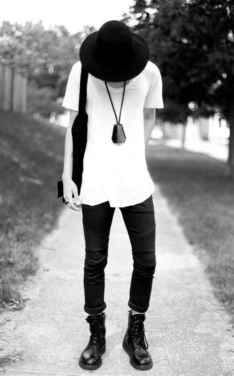 White Shirt Black Jeans Shoes Fashion Men Tumblr