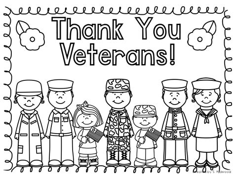veterans day coloring page thank you veterans day free printables sketch coloring page