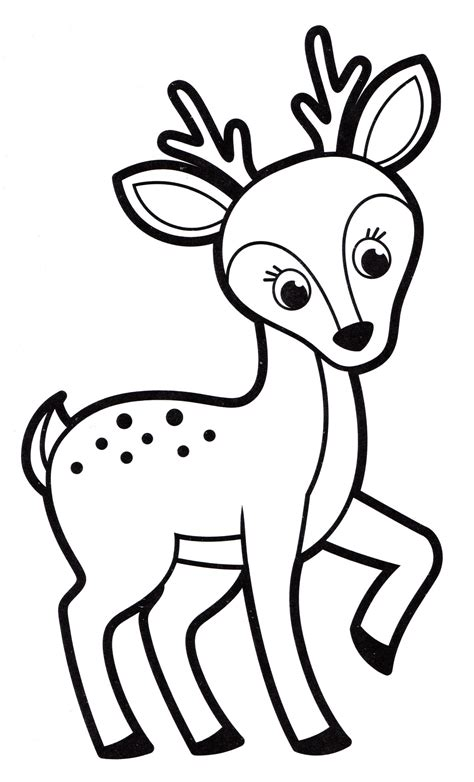 fawn coloring pages    print