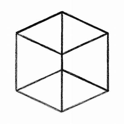 Cube Sketchy Giphy Gifs Orthographic 3d 4d