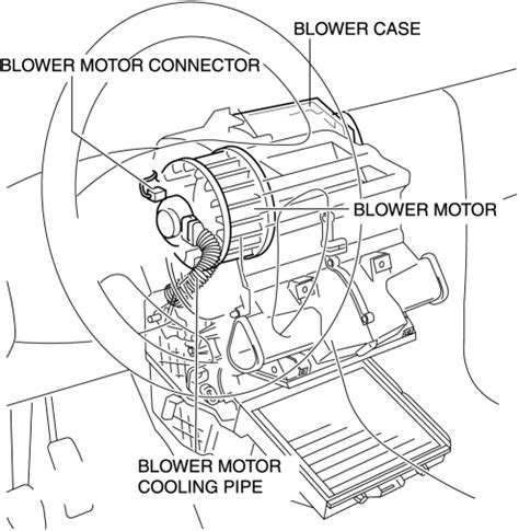 how to remove install ablower motor 0n a 2010 mazda 3
