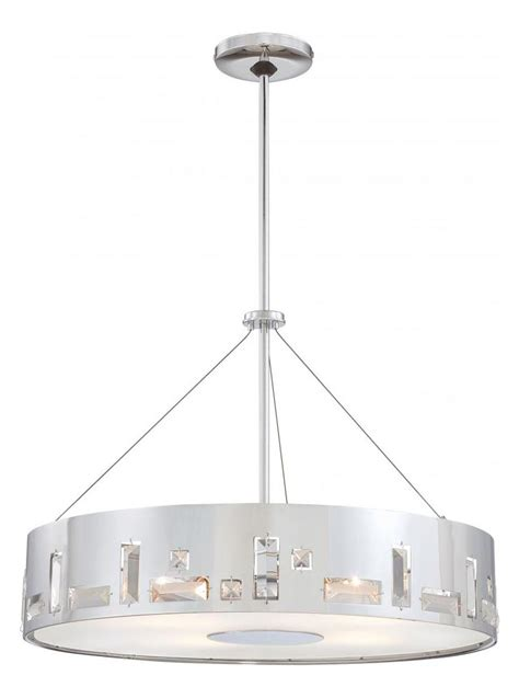 minka george kovacs chrome 5 light drum pendant in chrome