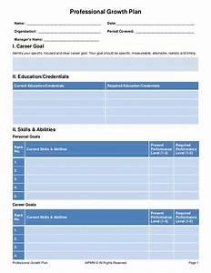 employee professional development plan template - professional growth plan template h del castillo aipmm