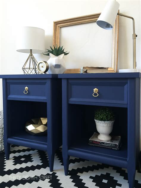 blue table ls bedroom modern painted nightstands with country chic paint