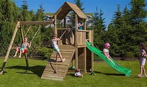 Aire De Jeux Pour Jardin : jeux de jardin en bois avec toboggan balanoire mur d ~ Premium-room.com Idées de Décoration