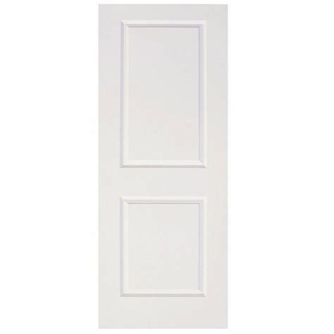 home depot white interior doors calhome 30 in x 80 in white primed mdf raised 2 panel shaker interior door slab door 2panel
