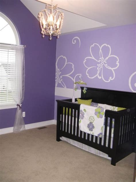 bedrooms painted purple purple baby girls room hand painted purple flowers and 10791 | 47a26320c3b5c25d0b8dd9495930e066