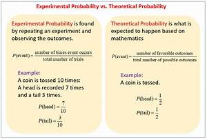 Theoretical Probability and Experimental Probability ...