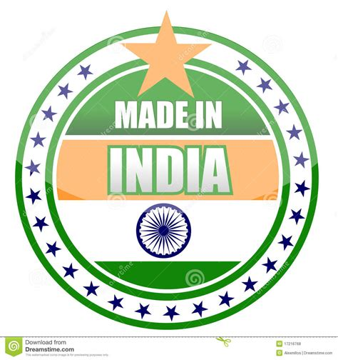 Made In India Royalty Free Stock Photos  Image 17216768