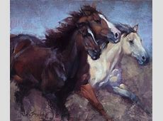 Horse Buffalo Paintings by Jill Soukup available Saks