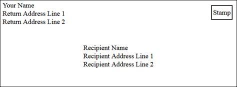 informal envelope formats inenx
